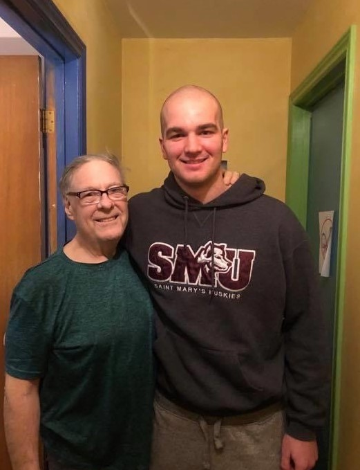 Gravel shaved head in support of Phil