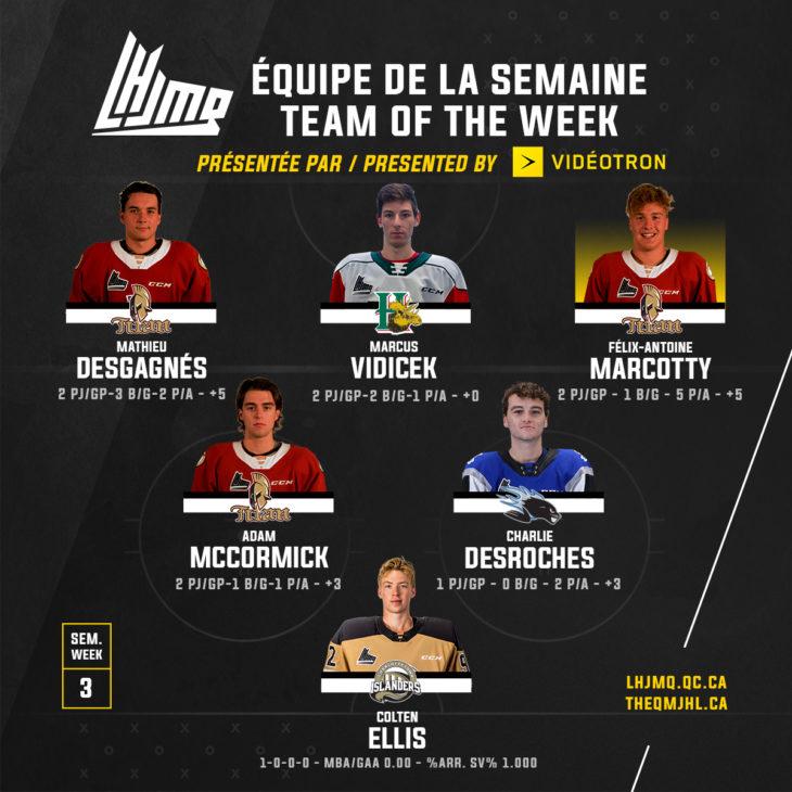 Semaine3-Équipe de la semaine