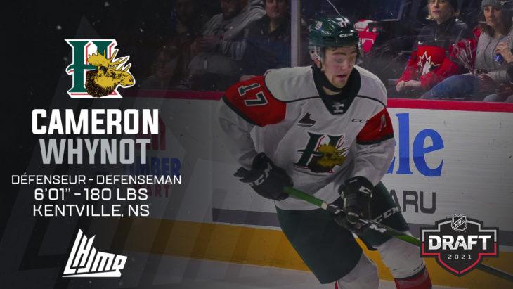 Repêchage NHL 2021 - Cameron Whynot