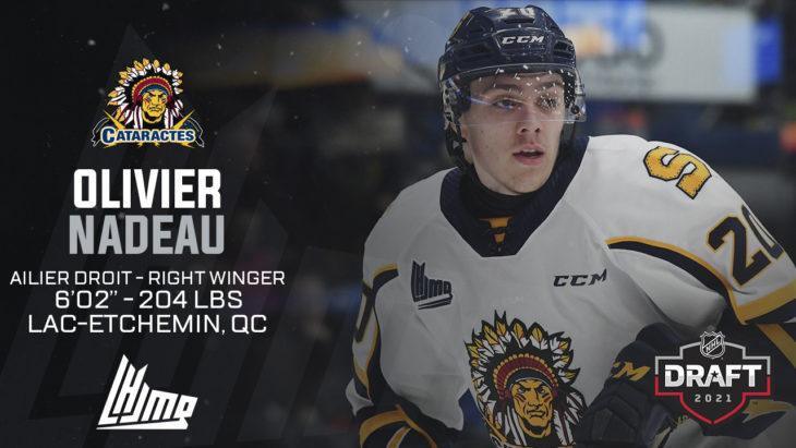 Repêchage NHL 2021 - Olivier Nadeau