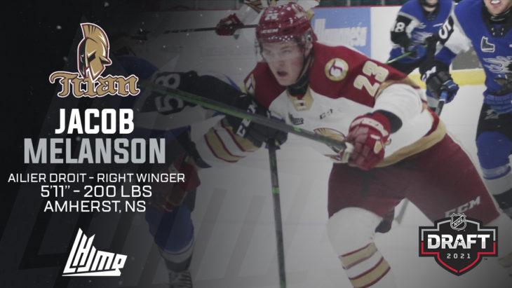 Repêchage NHL 2021 - Jacob Melanson