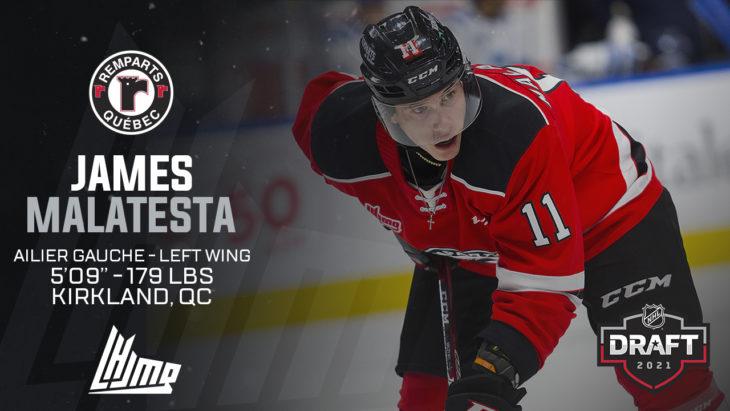 Repêchage NHL 2021 - James Malatesta