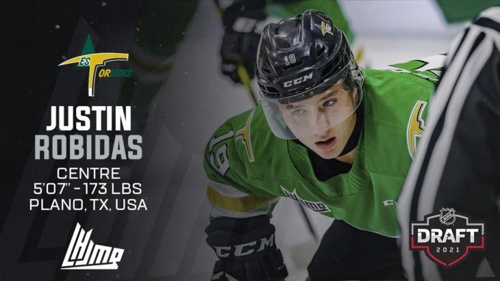 Repêchage NHL 2021 - Justin Robidas