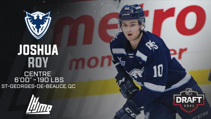 Repêchage NHL 2021 - Joshua Roy