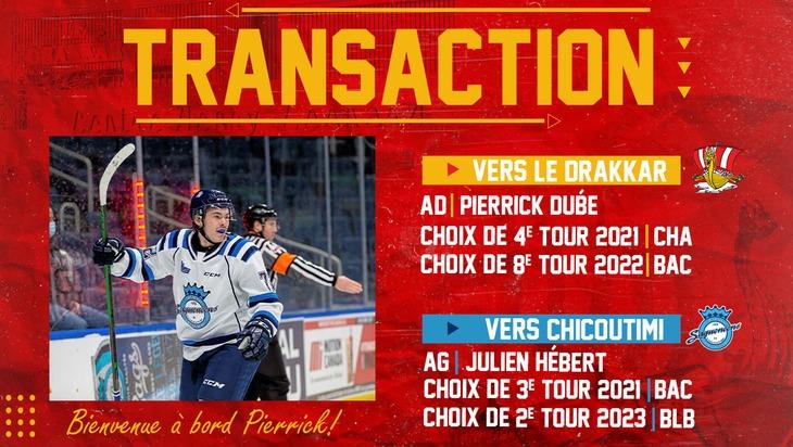 Transaction Pierrick Dubé