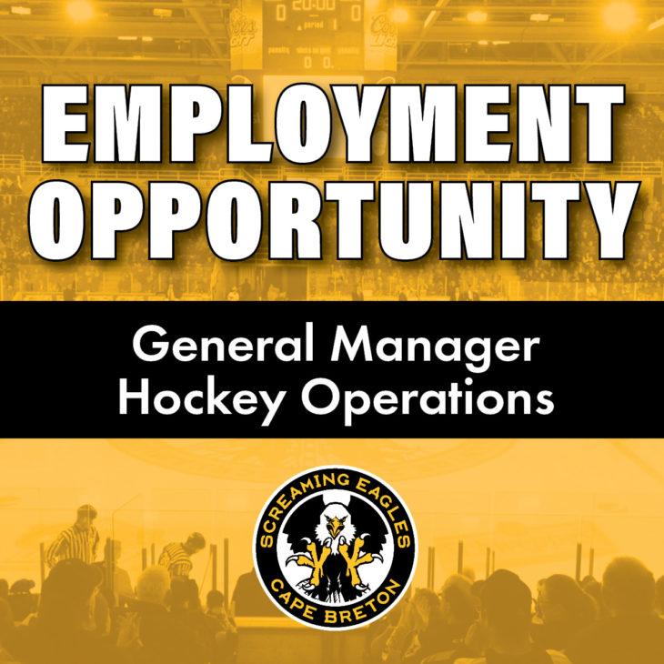 Screaming Eagles Job Posting GM Hockey Operations Social