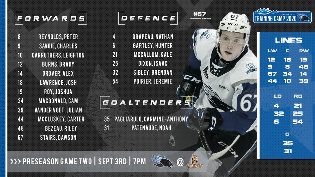 Lineup Sept 3