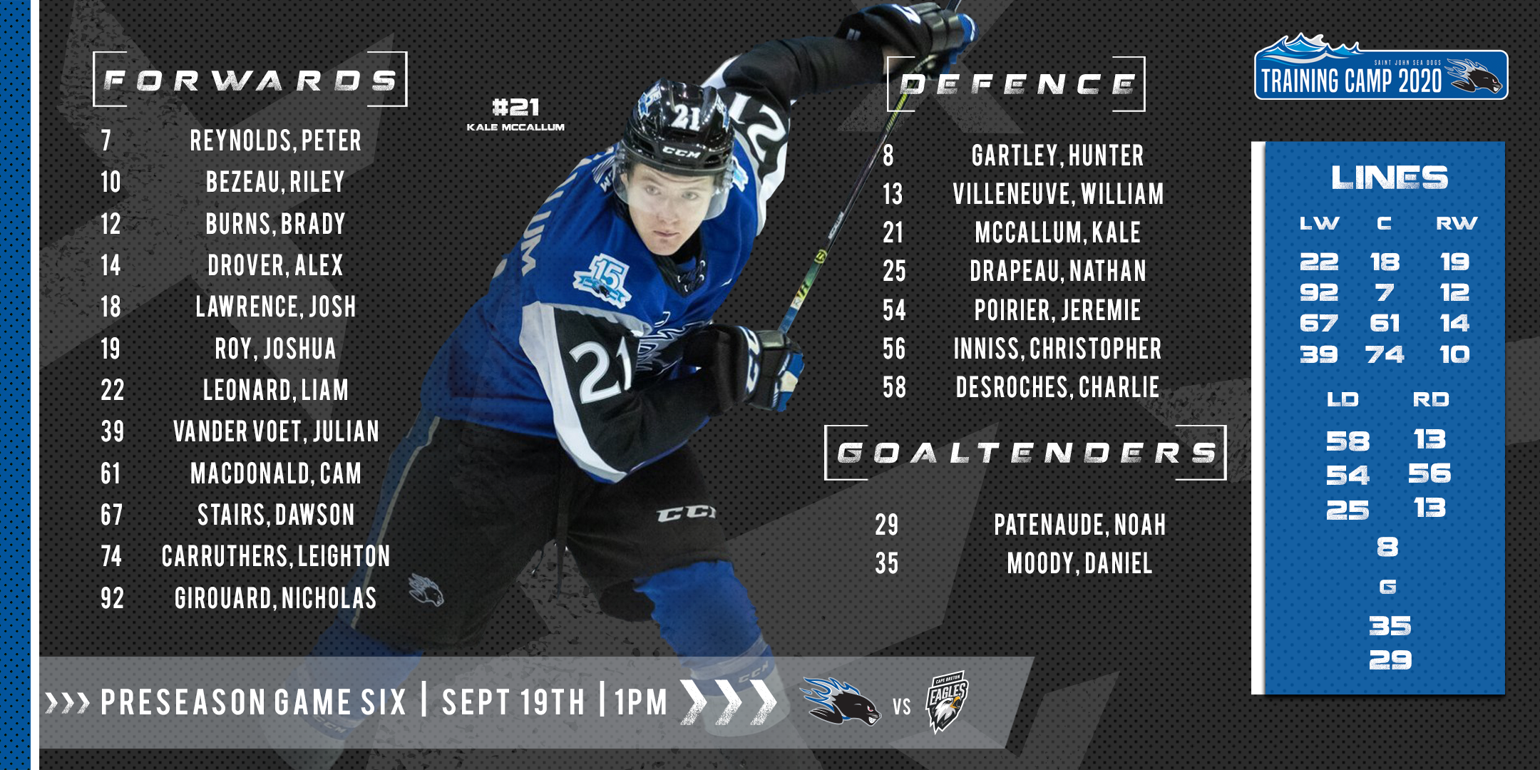 Lineup Sept 19