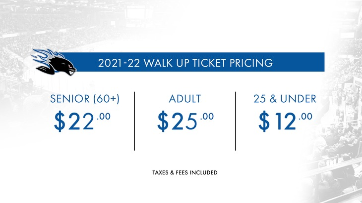 Walk up tickets - Pricing